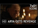 "Game Of Thrones 7x01 ""Arya Stark Kills Walder Frey's Family"" Scene Season 7 Episode 1 (HD)"
