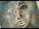 Speed Painting - Mixed Media Abstract Acrylic Face