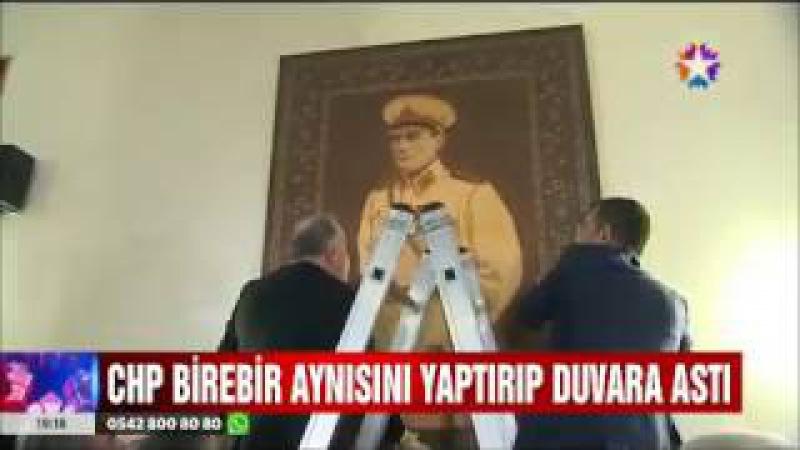 Meclis'te indirilen Atatürk Portresini CHP'li vekiller yerine geri taktılar