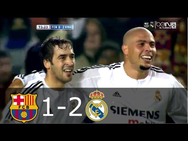 Барселона 1 2 Реал Мадрид Чемпионат Испании 2003 2004 15 тур
