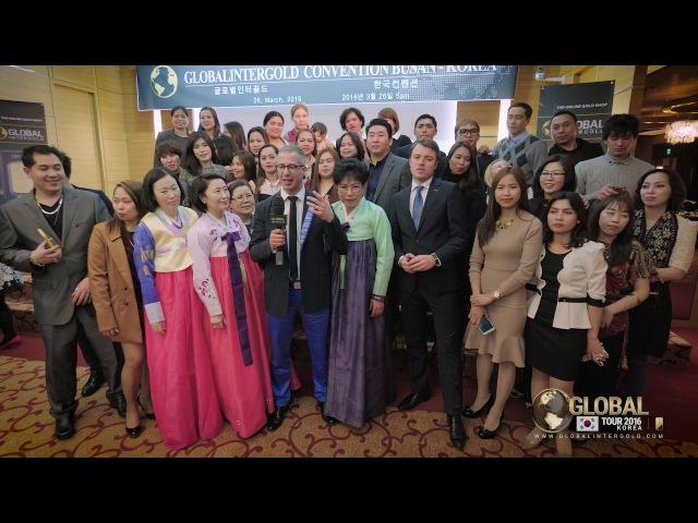 """Ostap Pecheniy en Corea del Sur """"Venimos a países exóticos gracias a Global InterGold"""""""