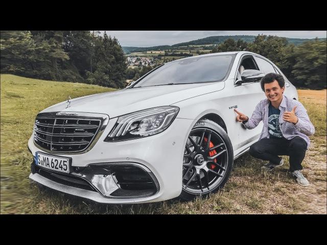 Новый Mercedes S-Class! Первый тест на S 63 - 612 сил, 3.5 с до 100 км/ч 0-260!) AMG-обзор : )