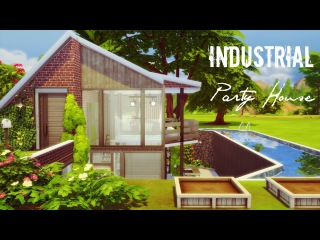 The Sims 4 Speed Build: Industrial Party House
