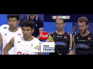 [HD] 2016 YONEX French Open Final [MD] Bodin-Nipitphon vs Mathias BOE-Carsten MOGENSEN