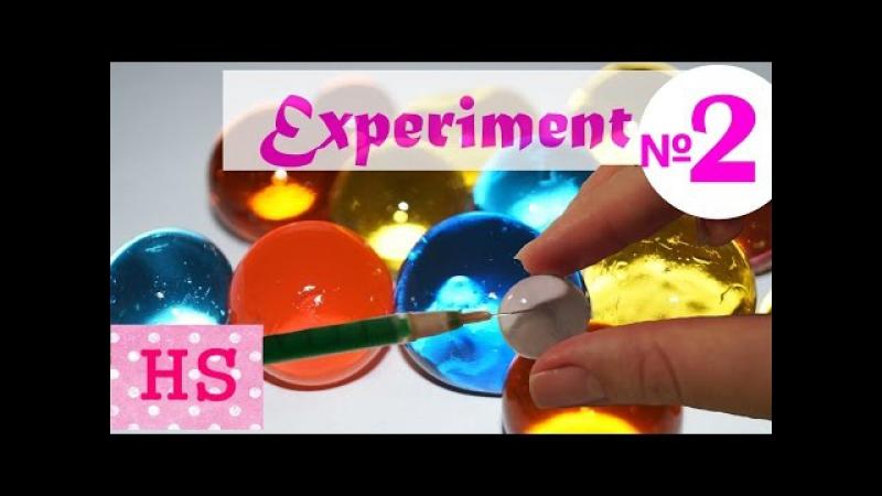 Orbeez шарики эксперимент 2 Глаз ящера. Raptor's Eye Growing in the water balls orbeez. Experiment 2