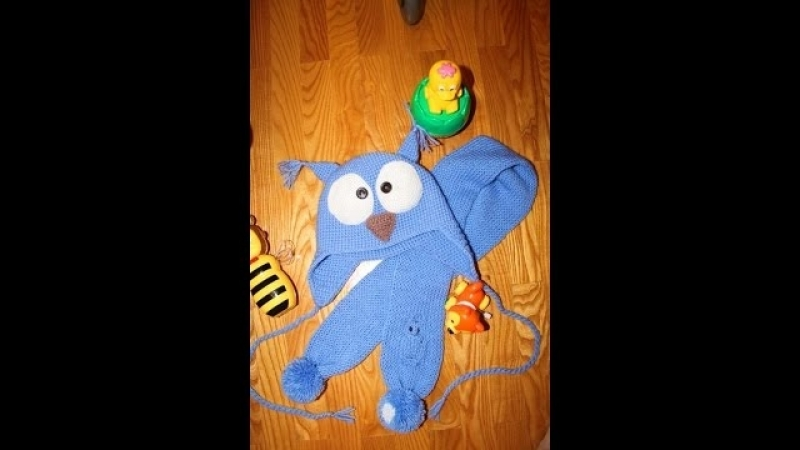 как связать шарфик для ребенка воздушной английской резинкой.Knitting lessons №2.ШарфСОВА