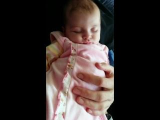 Спит наша сладкая девочка ♥