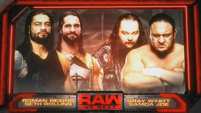 (WWEWM) Сет Роллинс и Роман Рейнс пр. Самоа Джо и Брэй Уайатт (22.05.2017, RAW)
