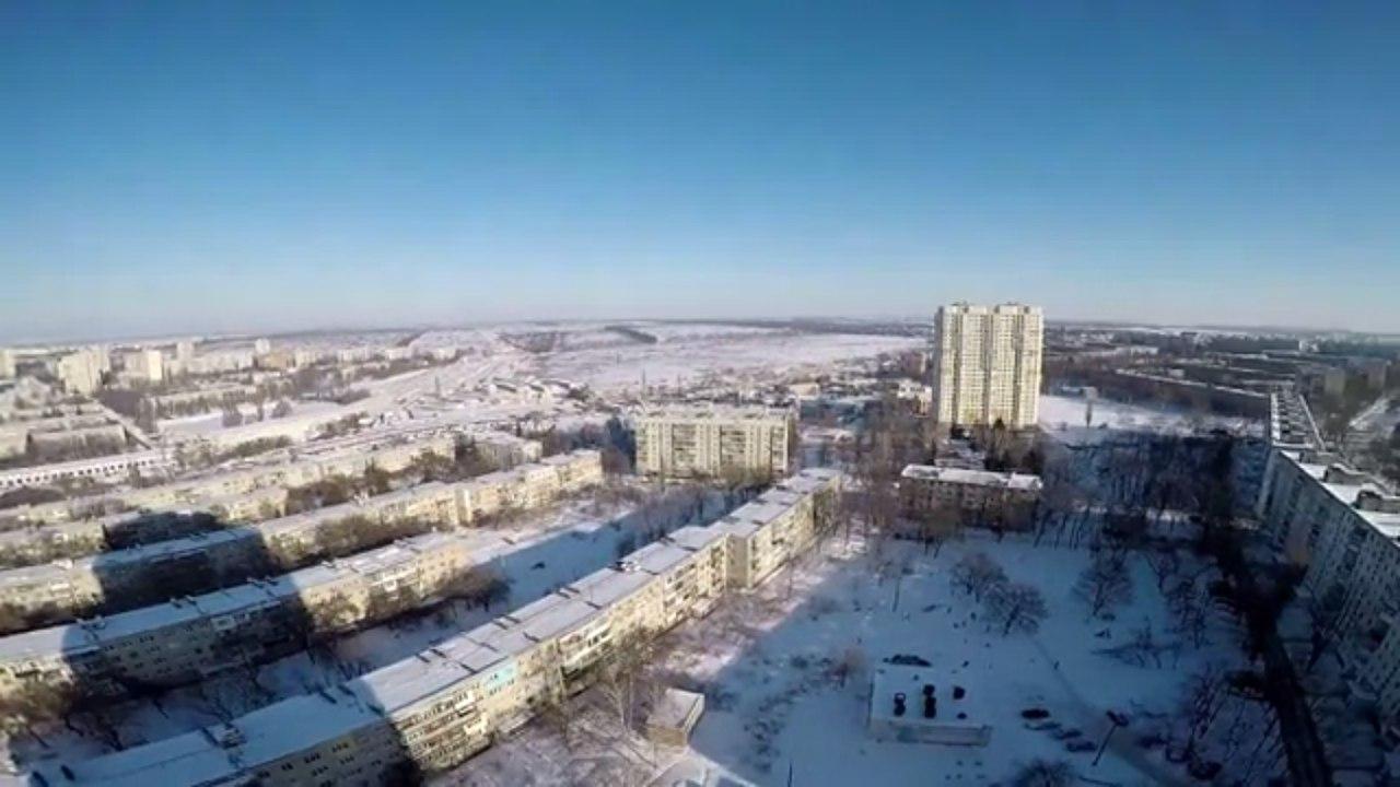 Жителям Харькова показали зимний город с высоты (ВИДЕО)