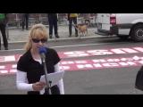 Amy Bianca in der Burka - Merkel muss weg Demo Berlin 1. Juli
