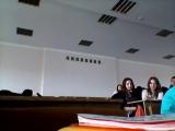 Таня и Эмине попали под съёмку на лекции