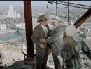 Идет строительство гостиницы Украина. Верные друзья на 34 этаже сталинской высотки. Москва, 1954