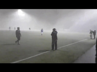 1xСтавка: Исландский футбол в снежную бурю