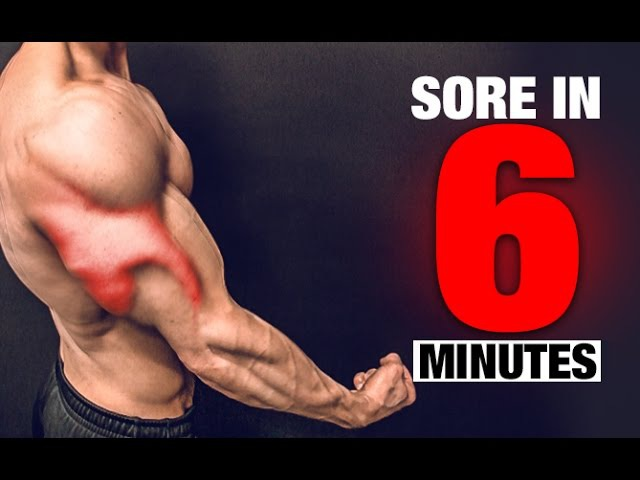 Brutal Triceps Workout (SORE IN 6 MINUTES!)