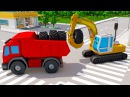 Мультик! Спецтехника в Городке: Экскаватор, Грузовик, Трактор - 3D Мультфильм про