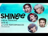 SHINee LIVE Vocal Ranking 20152016 with Performances (Latest)