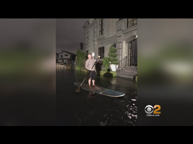 Coastal Flooding Takes Out Seawall In Newport Beach