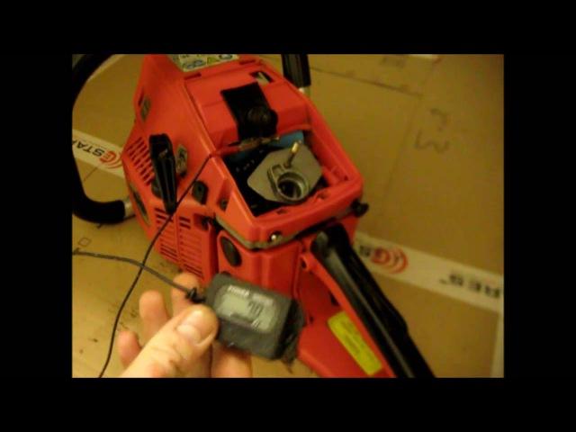 Как отрегулировать карбюратор китайской бензопилы 4500.How to adjust the carburetor of chainsaw