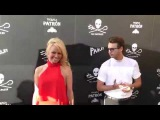 Pamela Anderson and Brandon Thomas Lee at the Sea Shepherd Conservation Society's 40th Anniversary G