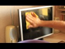 Чистка монитора. Как отмыть жирные пятна. Cleaning the monitor How to clean the grease spots