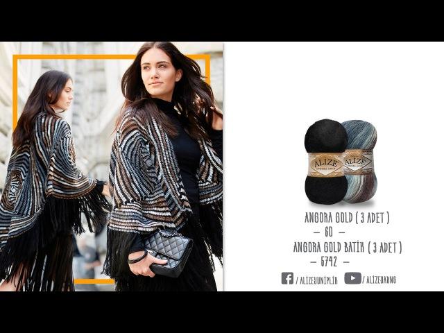 Alize Angora Gold Batik ile Panço Yapımı-Making Poncho with Alize Angora Gold Batik