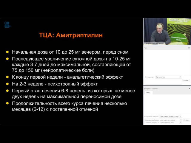 3. Данилов А.Б. Антидепрессанты и хроническая боль