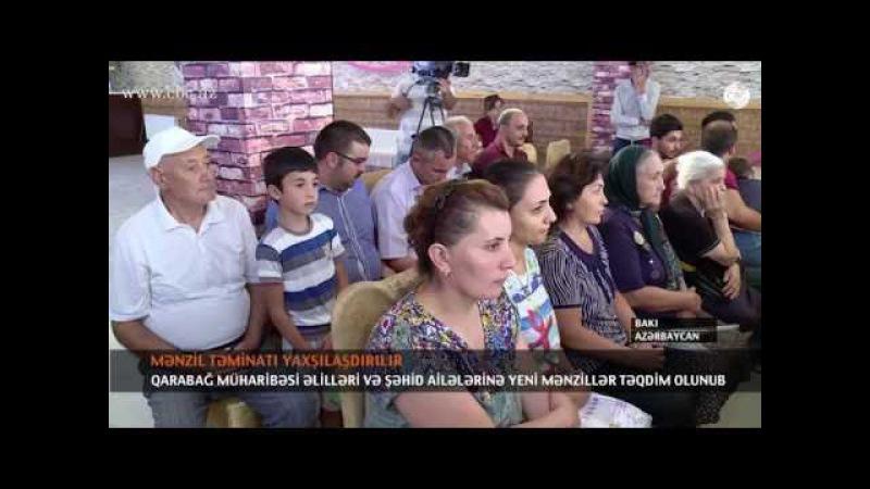 Qarabağ müharibəsi əlilləri və şəhid ailələrinə yeni mənzillər təqdim olunub