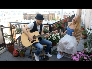 Valerie (Tha Zutons/Amy Winehouse) - Acoustic duo cover - Yulia Liyer & Constantine Kessov