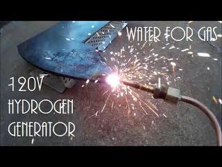 120 Volt Hydrogen Generator HHO Water for Gas