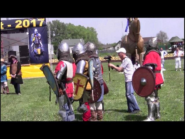 Лицарські бої під час фестивалю середньовічної культури на Буковині Троя ФЕСТ