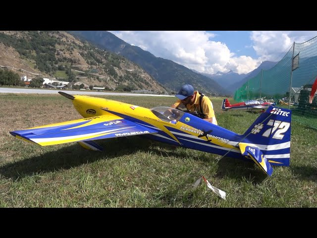 Aerobatic Extra 330 SC X-treme 3D flight Show Airtistica Raron 2016