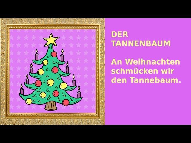 Weihnachten: 24 Sätze auf Deutsch - German for children beginners: christmas