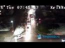 Один режет, другой не пропускает. Видео момента ДТП в Кингисеппе с веб-камеры KINGIS...