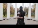 Контактное жонглирование, глотание огня (афро артист) - Contact juggling, fire eati