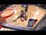 Aaron Gordon Between the Legs Dunk Assisted by Drone  2017 NBA Slam Dunk Contest