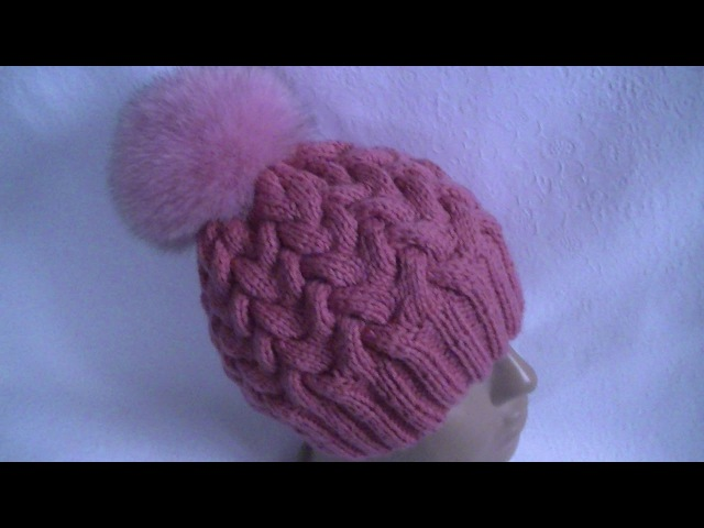 Вязания шапок с косами девочки