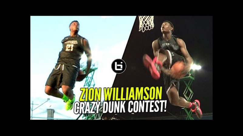 Zion Williamson CRAZY Behind The Back Dunk More!! 16 Year Old The BEST Dunker In High School!?