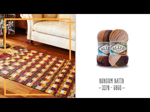 Alize Burcum Batik ile Kilim Yapımı-Making Rug with Alize Burcum Batik