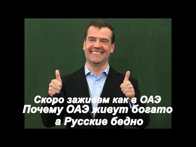 Медведев дал ответ Почему ОАЭ живут богато а Русские бедно власть ворует ресурсы всем смотреть