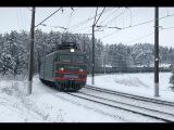 ВЛ10У 561 на фоне заснеженного леса. Перегон Новоиерусалимская - Манихино-1.
