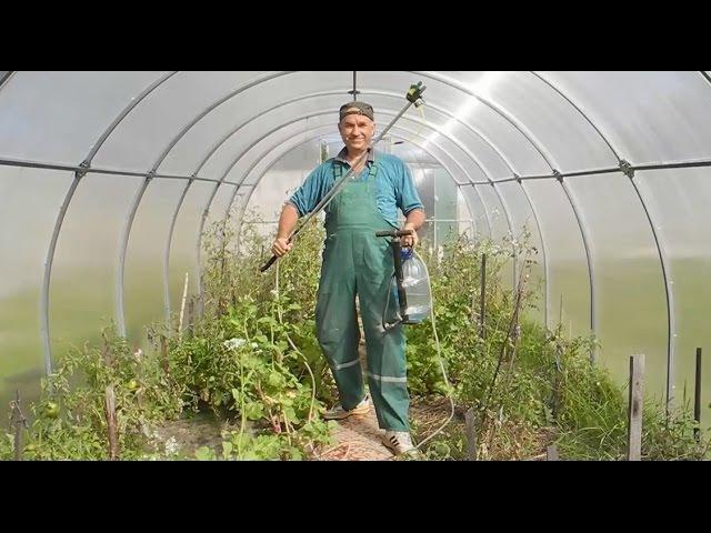 Простой мощный и халявный распылитель для огорода 2