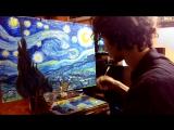 Рисую Рисунок Ван Гога &lt3 (Подписывайтесь на мой YouTube канал  &gt  httpswww.youtube.comchannelUChXqxsLa2FpJhtvgOAbDR6w &lt3