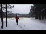 Пробежка по снегу голым тортом зимний загар, СВ, 06.11.2016 честный обзор трибротца wimhof iceman_hof winter Sunbath, правильное