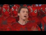 Том Холланд и его дебютный трейлер Человека-Паука [Jimmy Kimmel]