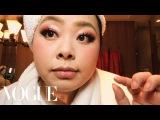 Naomi Watanabes Guide to Glitter Eyes and Bold Lips  Beauty Secrets  Vogue