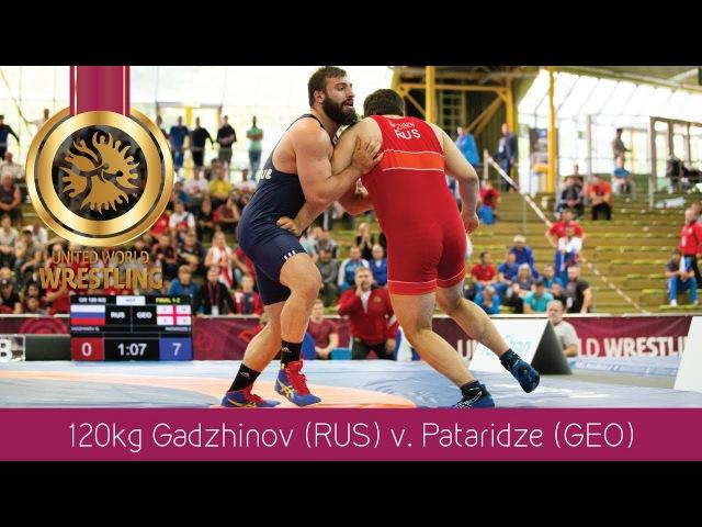 GOLD GR - 120 kg: Z. PATARIDZE (GEO) df. G. GADZHINOV (RUS) by TF, 8-0