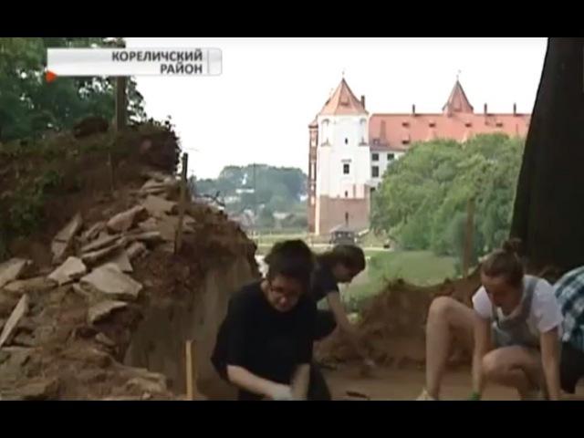 Обнаружены фрагменты дворца Святополк-Мирских. Уникальная находка!