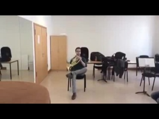 Duet for French Horn and chair - Сoub - GIFs with sound