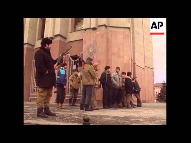 CHECHNYA GROZNY FIERCE ASSAULT BEGINS BY RUSSIAN TROOPS