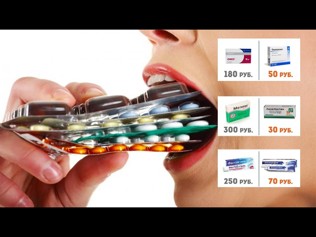 Дорогие лекарства и их дешевые аналоги.